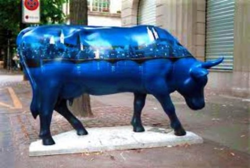 experiencias-de-viagens-zurique-cow-on-the-street