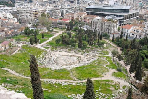 Title: Theatre of Dionysus Eleuthereus. Acropolis of Athens, Greece.  Teatro de Dionísio. Acrópole de Atenas, Grécia.