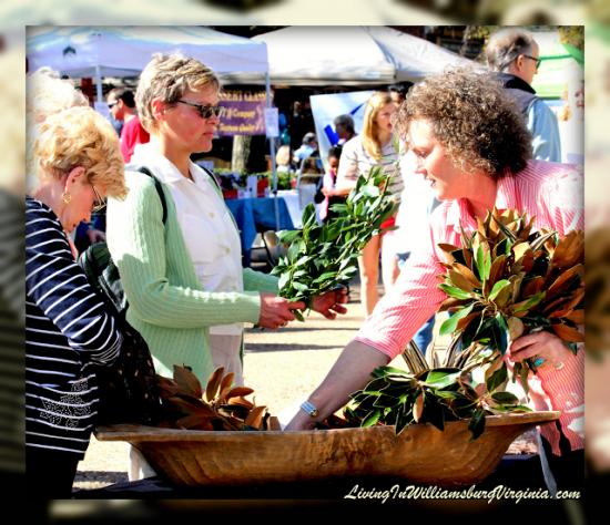 experiencias-de-viagens-williamsburg-farmers-market-leaves