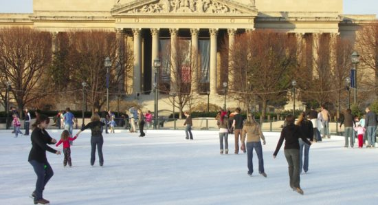 experiencias-de-viagens-washington-national-gallery-of-art-ice-skating